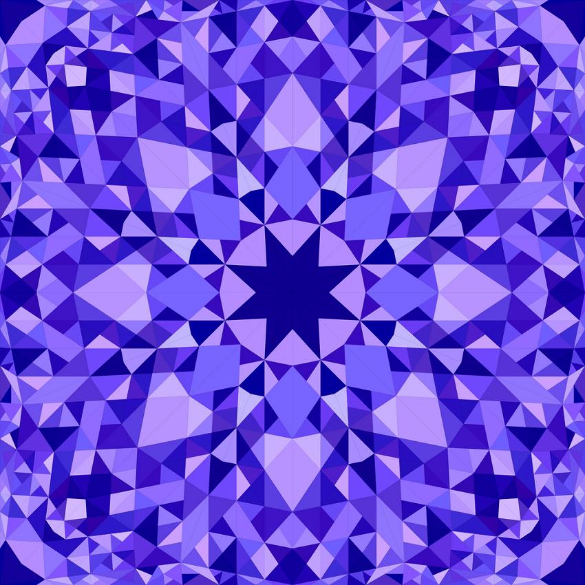blue seamless kaleidoscope pattern png