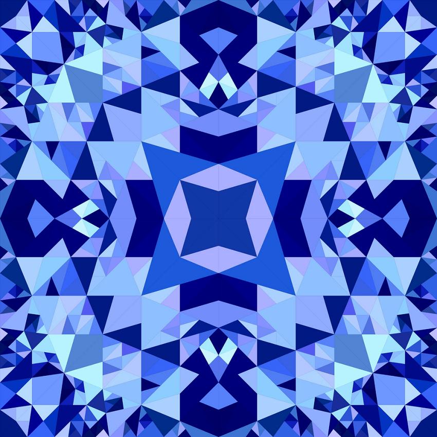 blue seamless kaleidoscope png