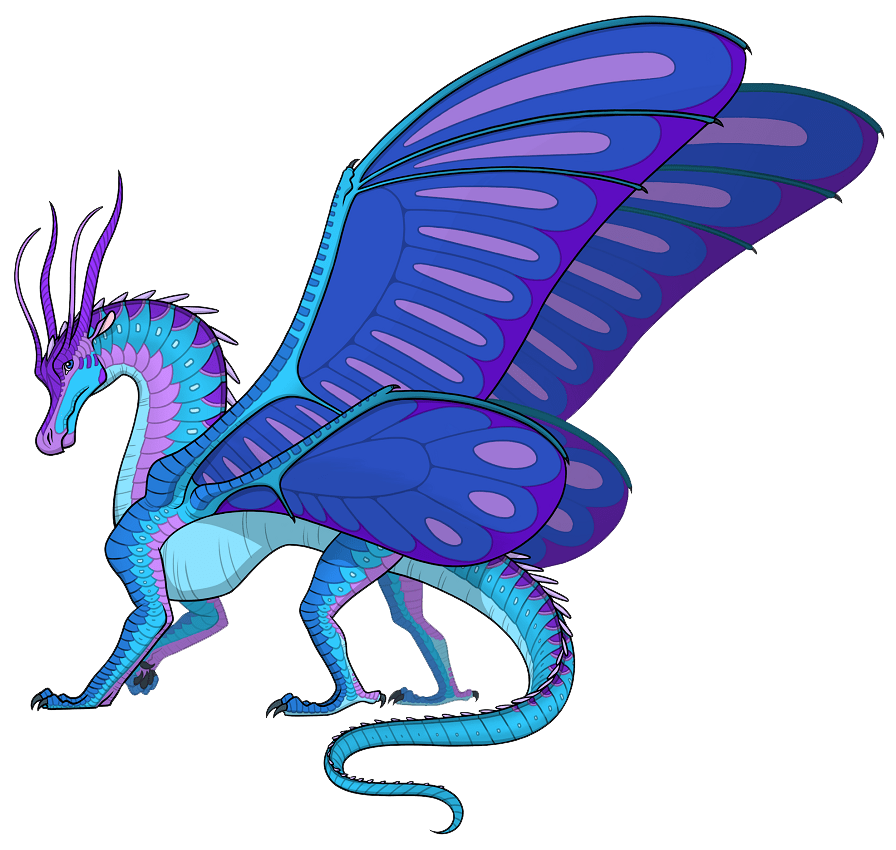blue wings of fire transparent
