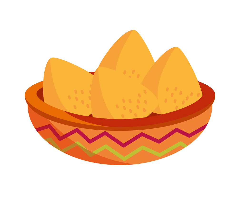 bowl with nachos snack png