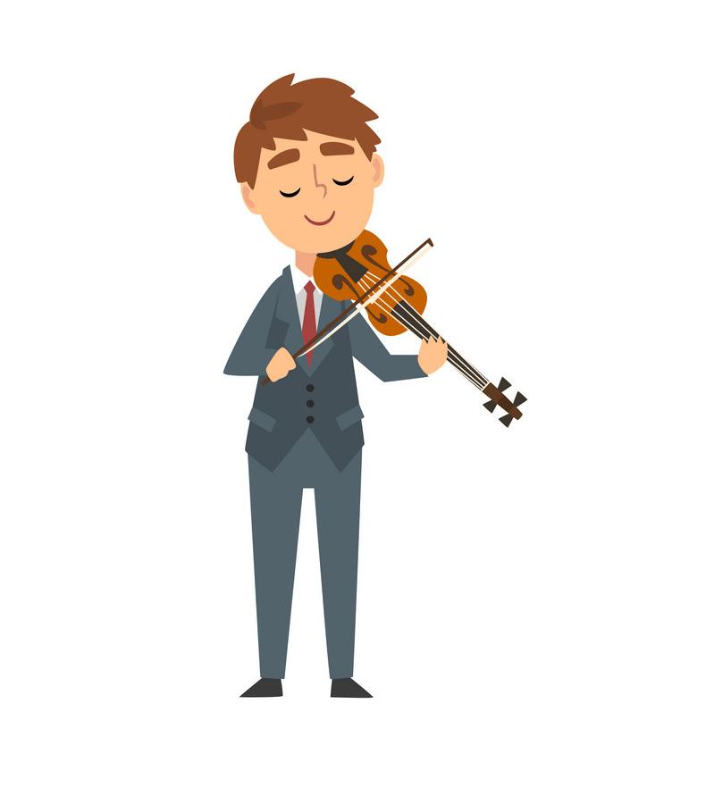 boy playing violin png