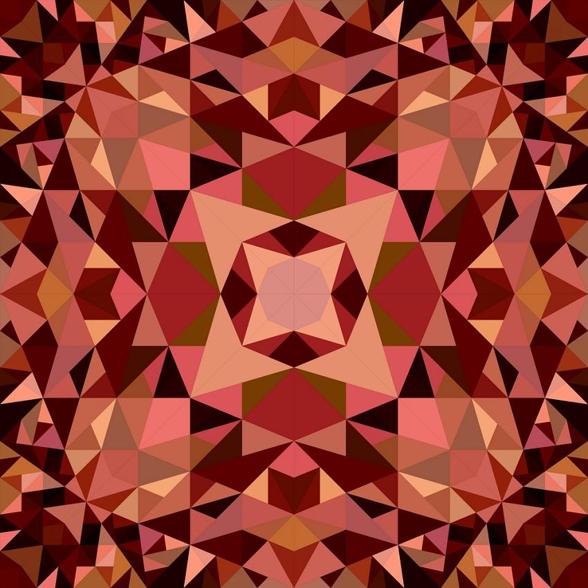 brown seamless kaleidoscope pattern