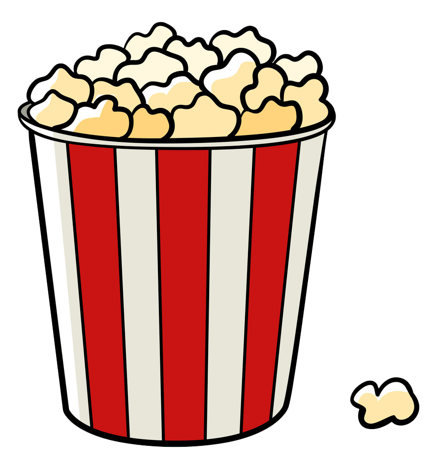 bucket of popcorn png transparent