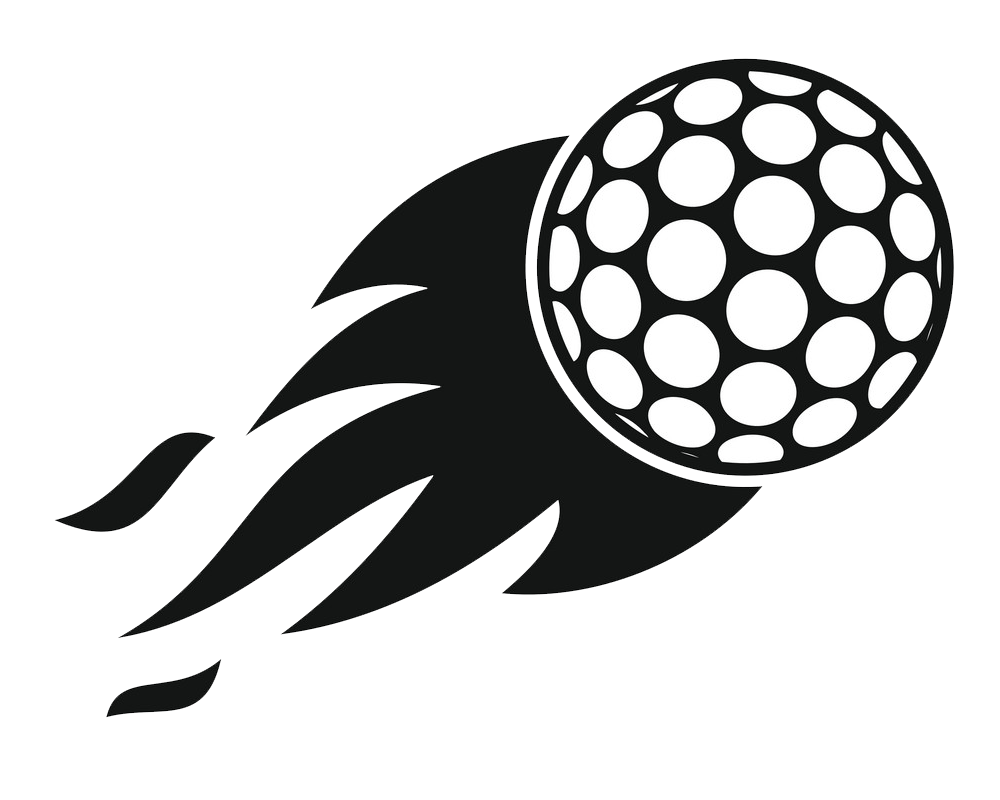burning golf ball icon png transparent