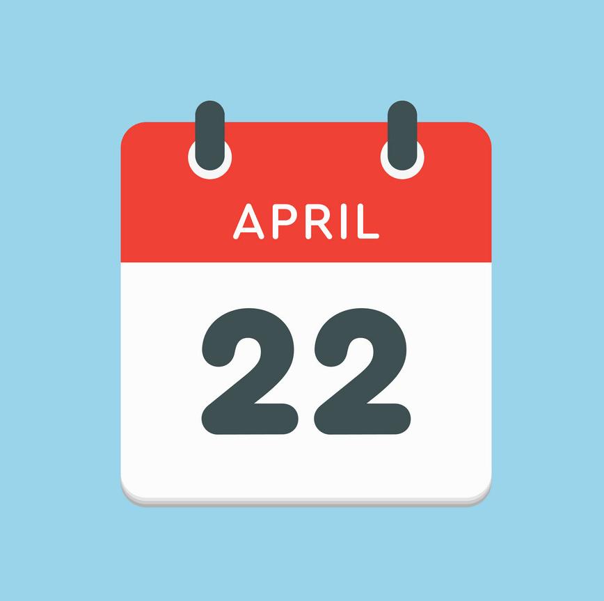 calendar day 22 april days year png