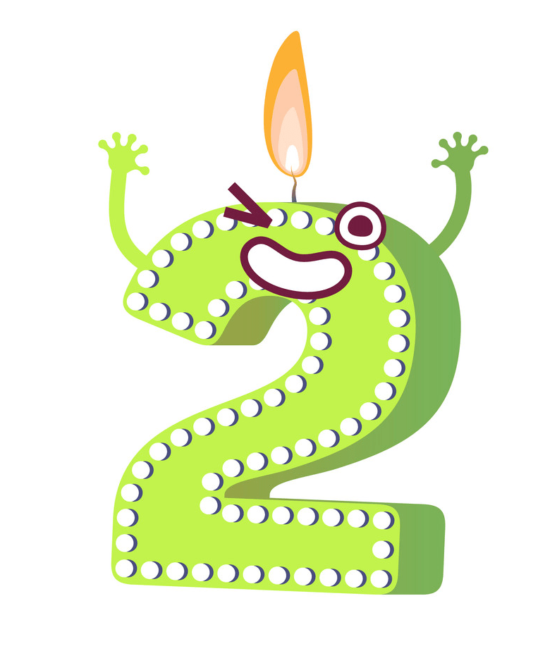 candle number 2 png