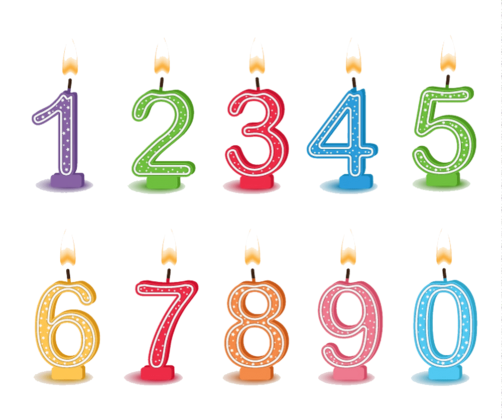 candles numbers png transparent