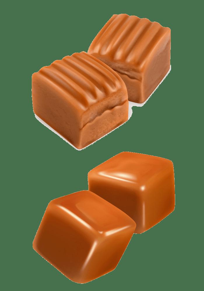 caramel candies transparent
