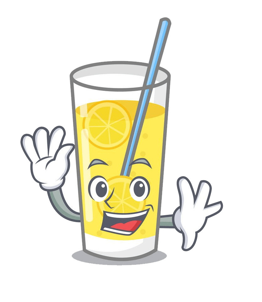 cartoon lemonade glass png transparent