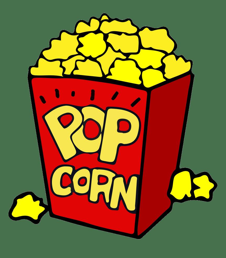 cartoon popcorn bag png transparent