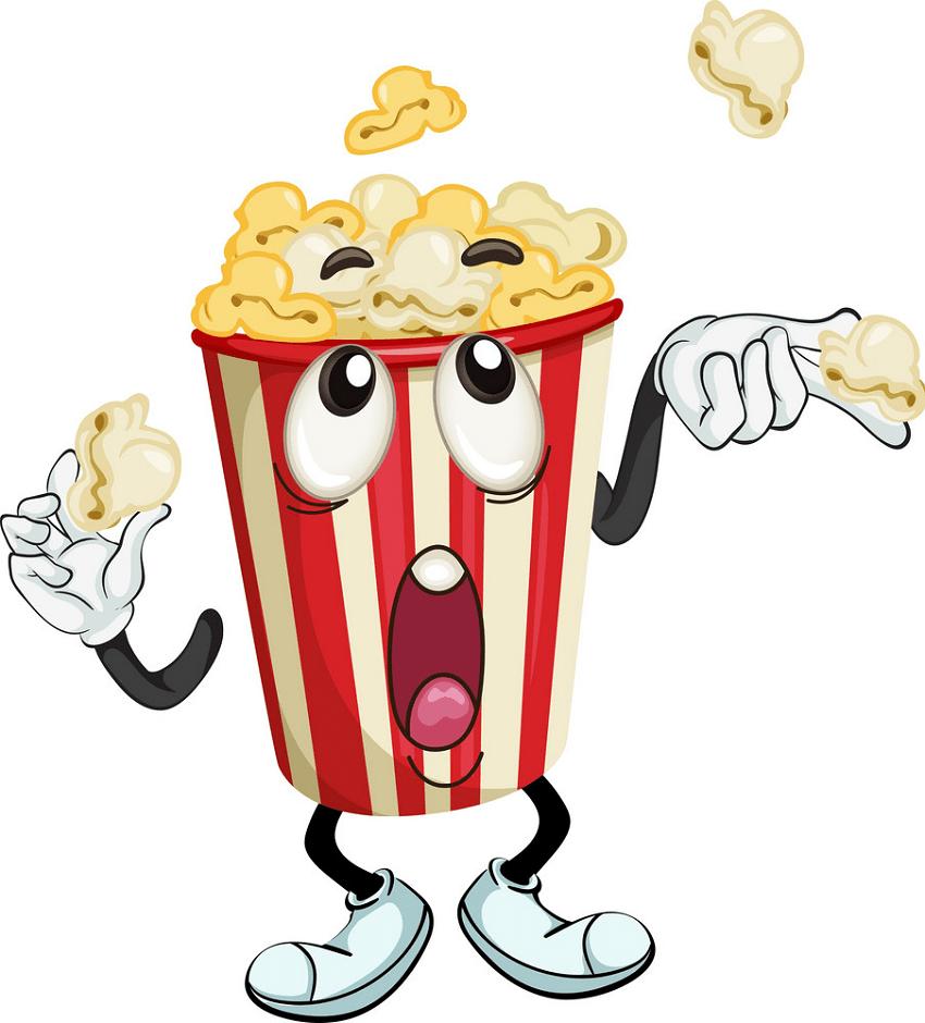 cartoon popcorn bag png