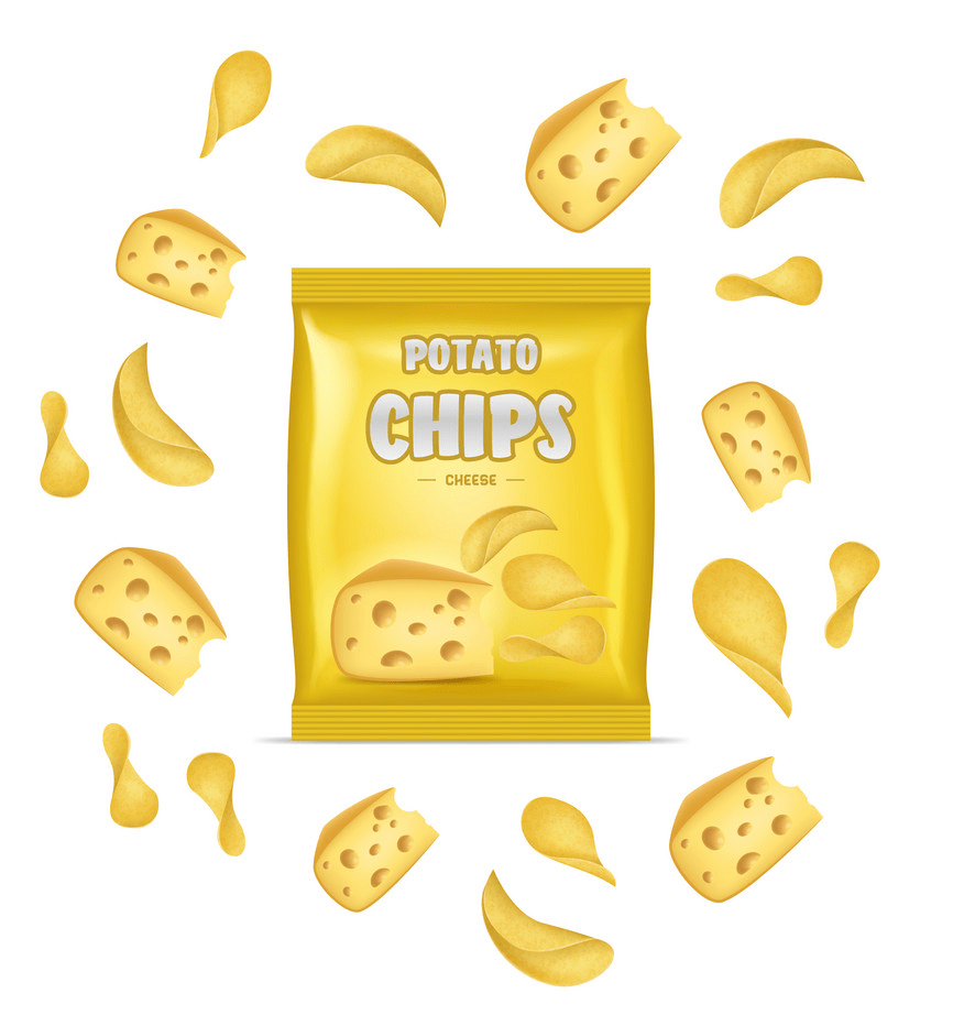 cheese potato chips png