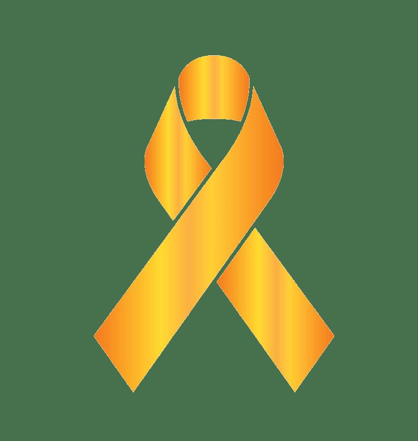 childhood cancer ribbon png transparent