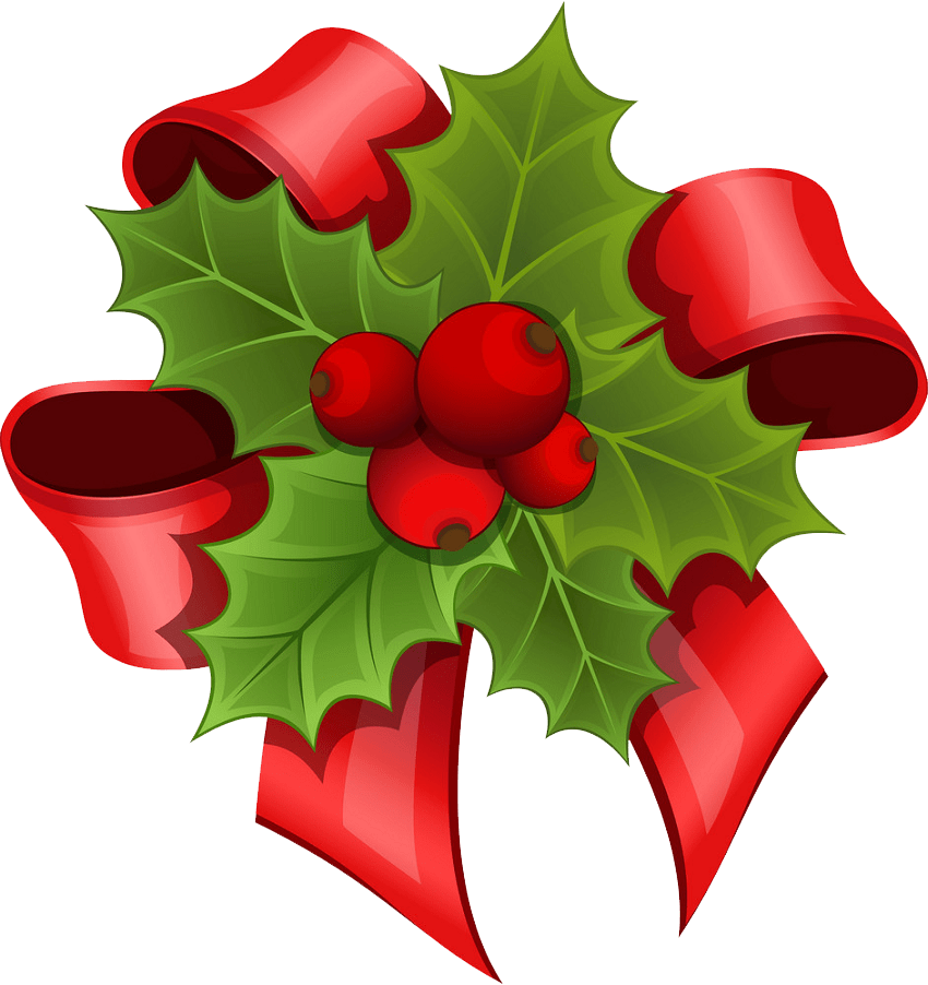 christmas bouquet of holly png transparent