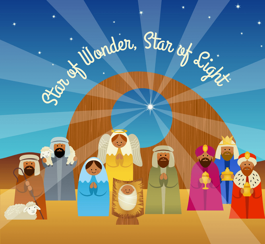 christmas card of nativity scene png