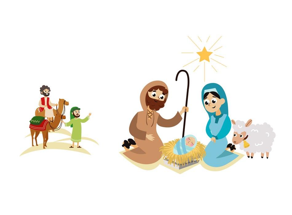 christmas nativity bethlehem crib story scene