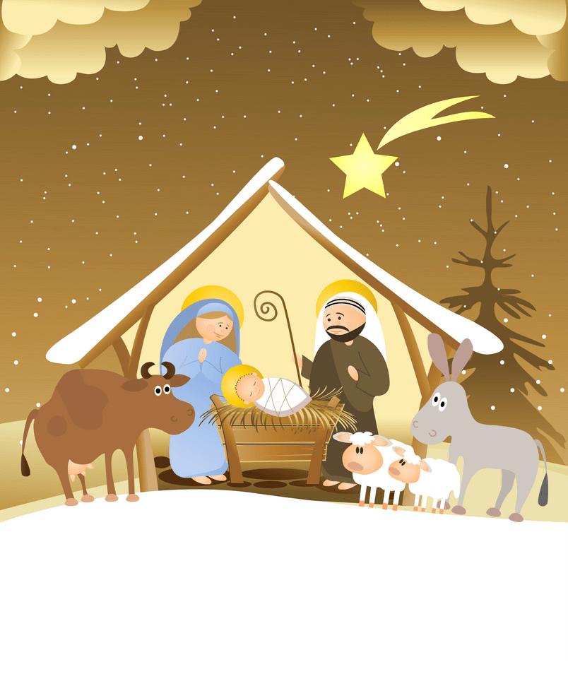 christmas nativity scene 2 png