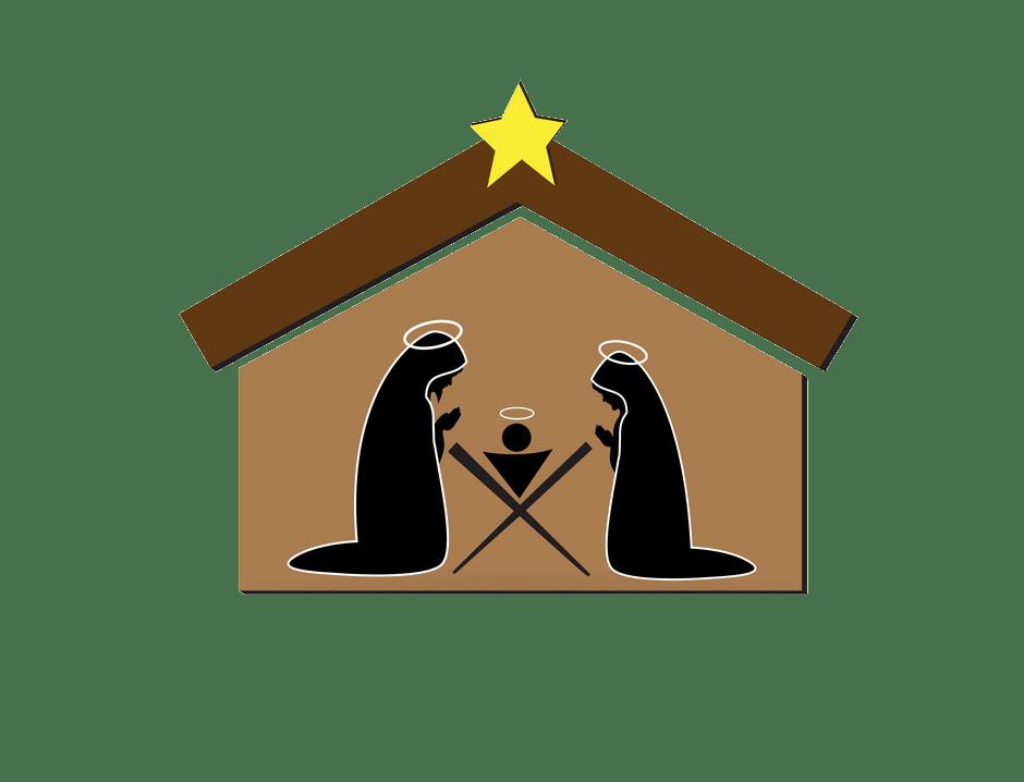 christmas nativity scene icon transparent