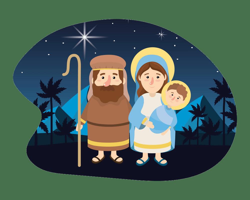 christmas nativity scene transparent