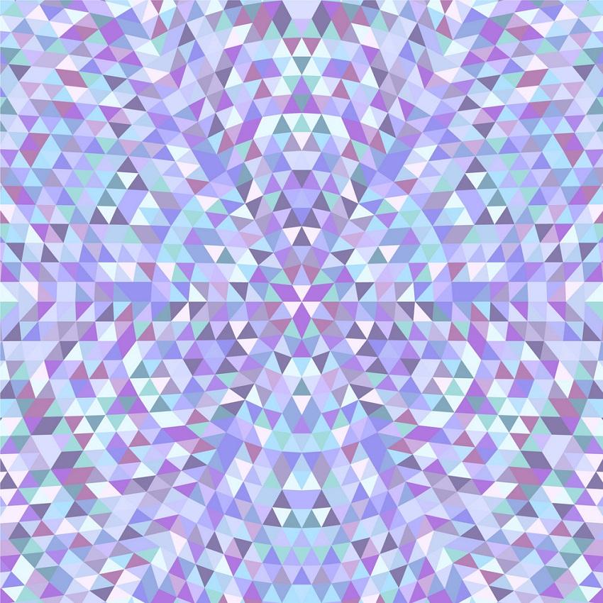 circular triangle kaleidoscope
