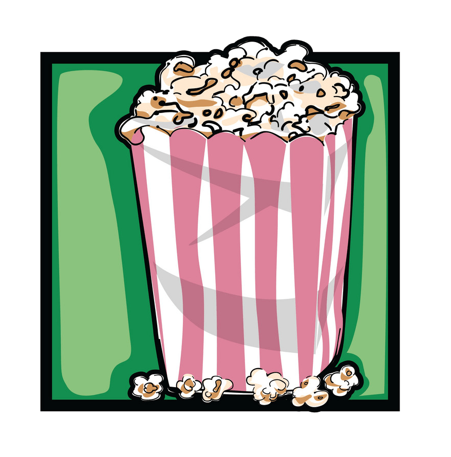 classic popcorn png transparent