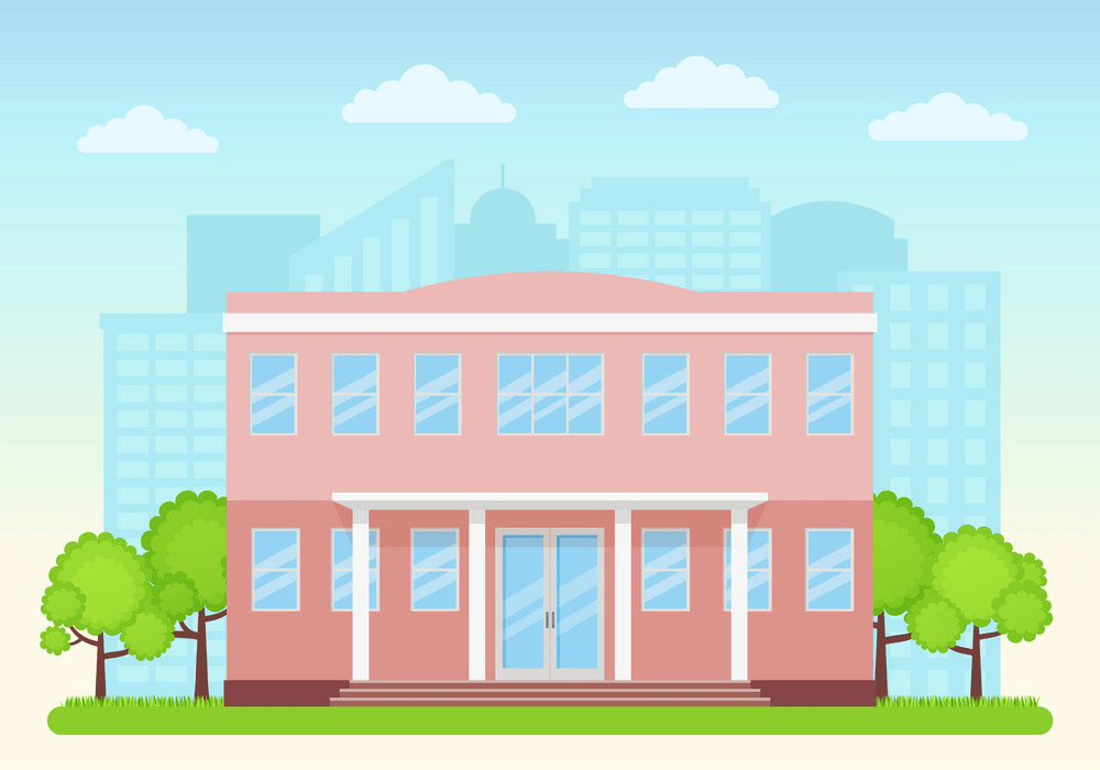college building facade png