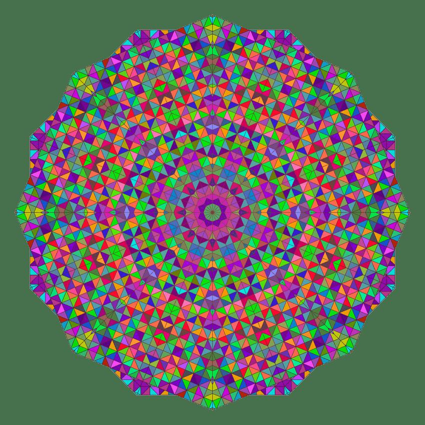 colorful circle kaleidoscope transparent