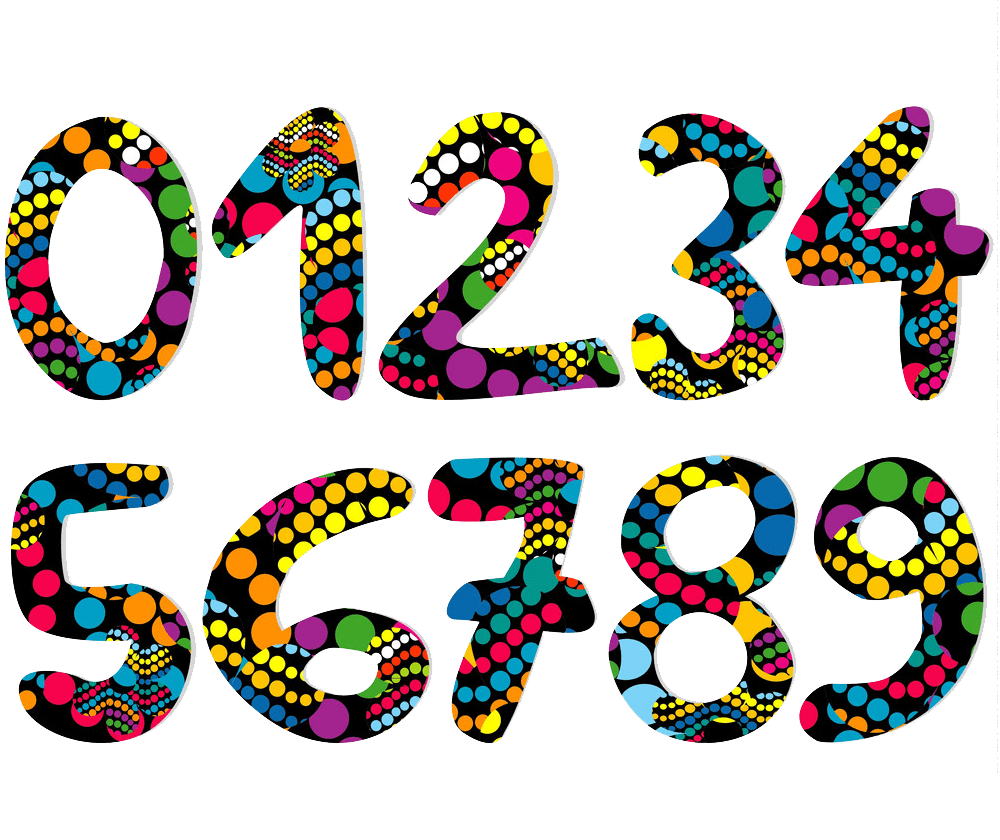 colorful decorative numbers png transparent