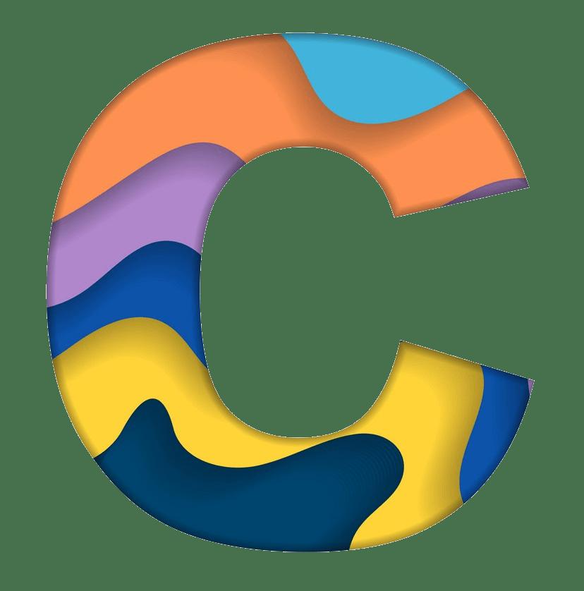 colorful letter c png transparent