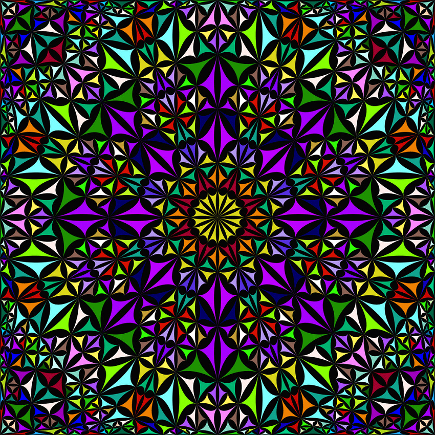 colorful repeating kaleidoscope pattern png