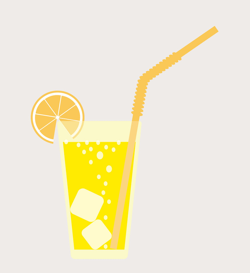 cool and fresh lemonade glass png