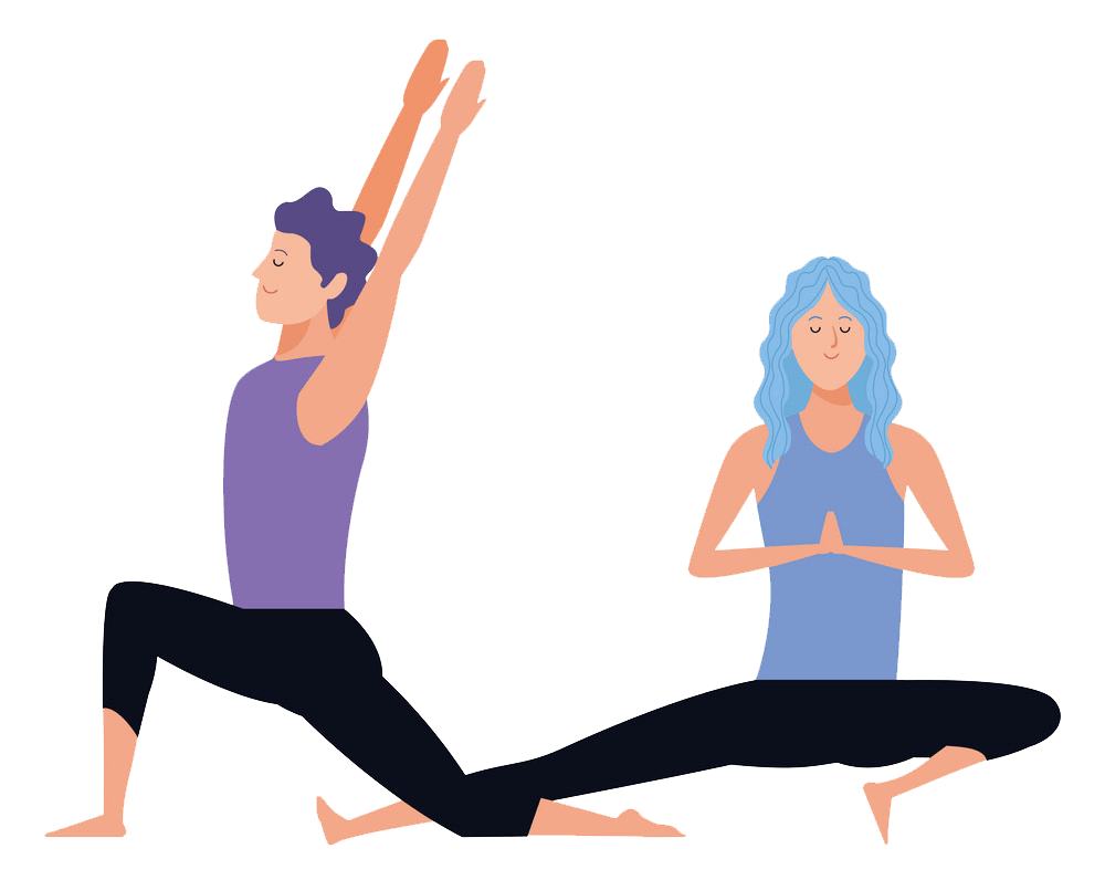 couple yoga poses png transparent