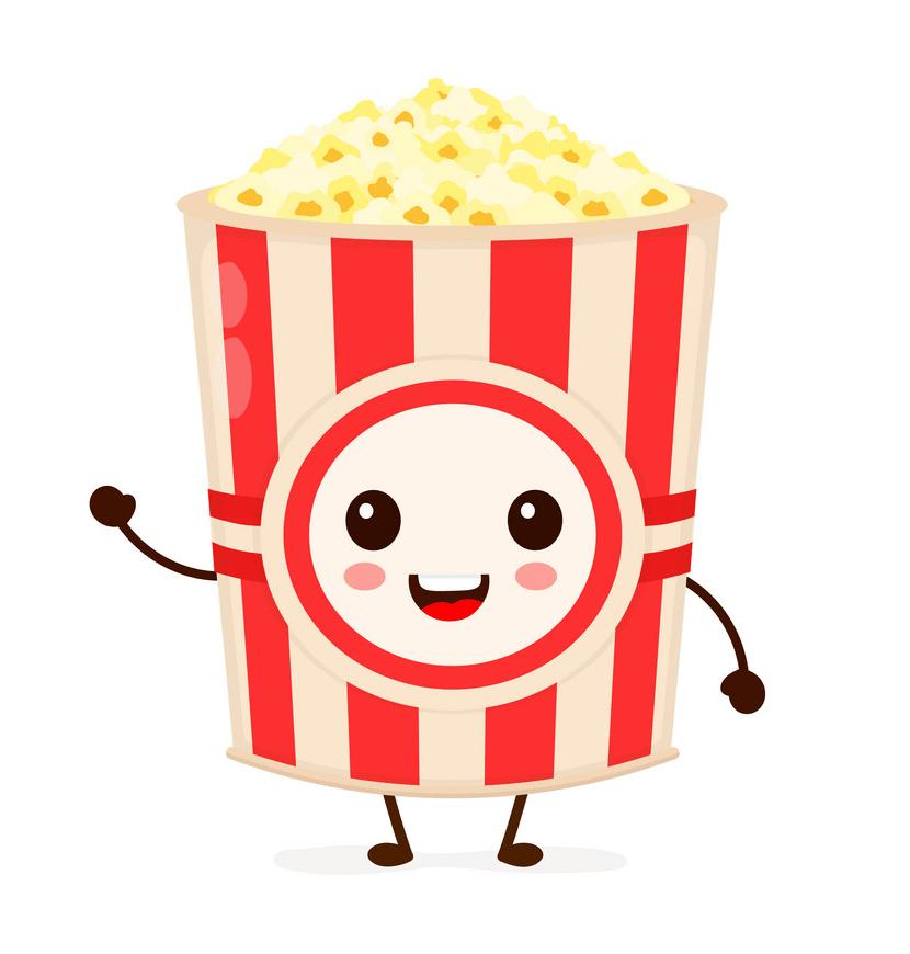 cute popcorn bag png