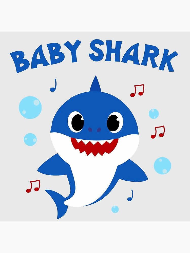 daddy shark with music notes png