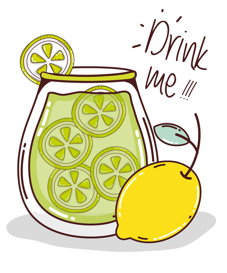 drink me lemonade png transparent