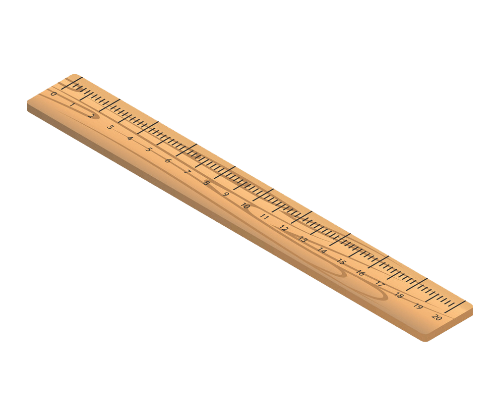 eco wood ruler icon isometric style png transparent