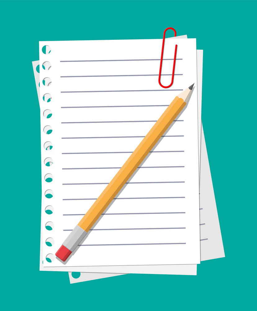 empty paper sheet with pencil png