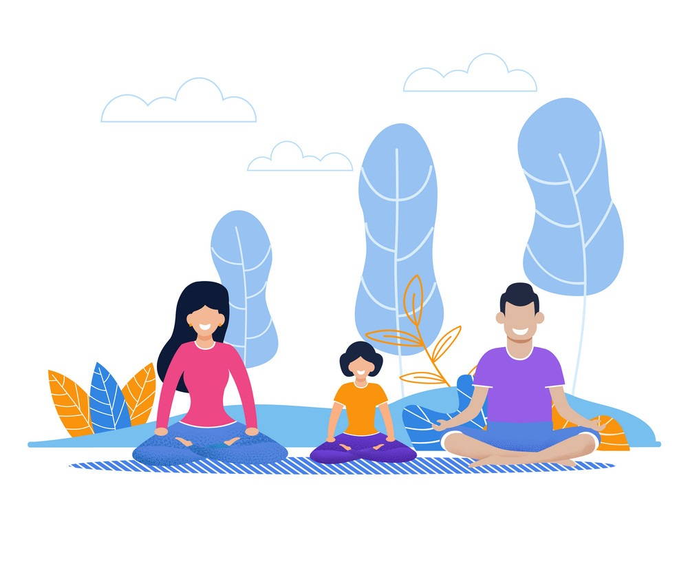 family yoga exercise