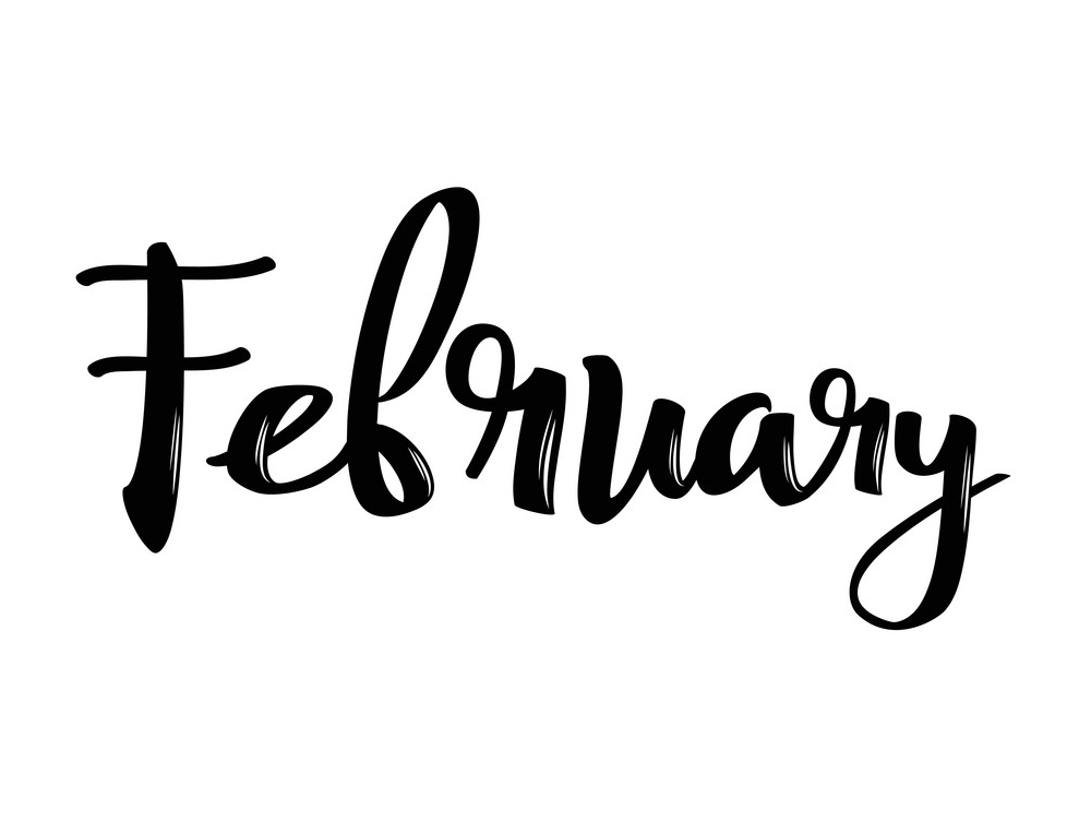february month name png
