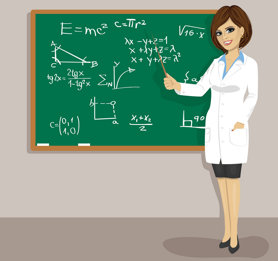 female math teacher png