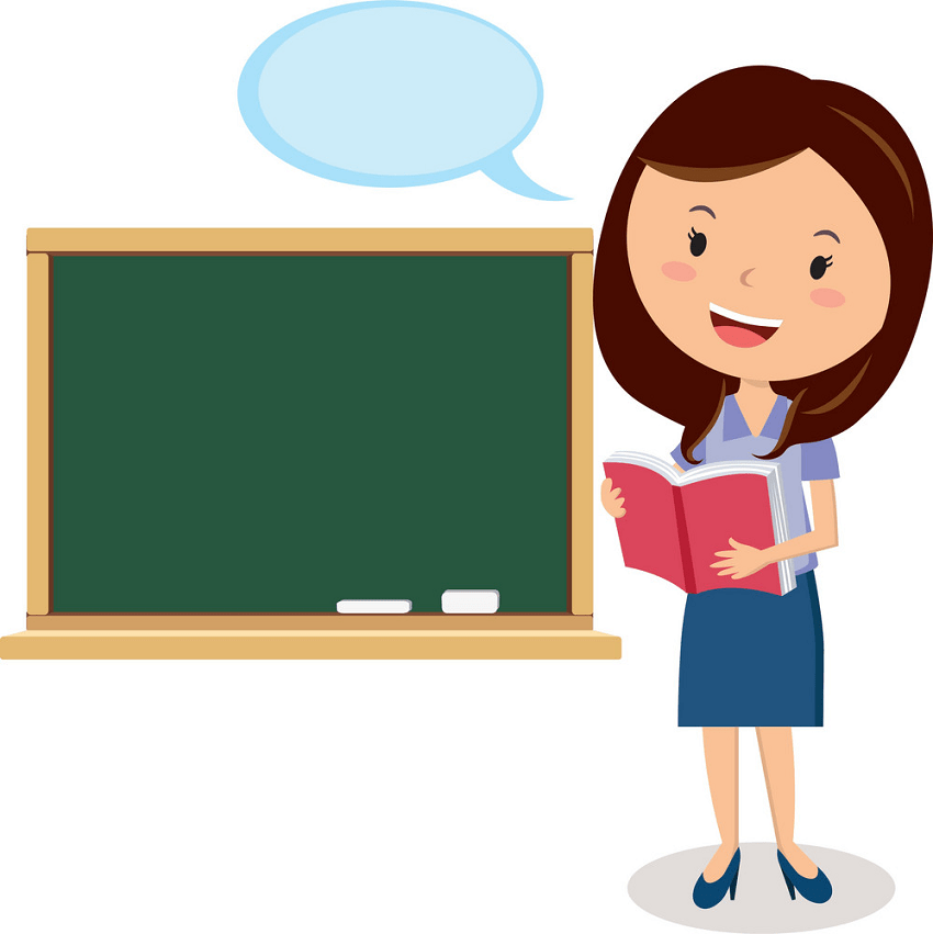 female teacher is teaching png