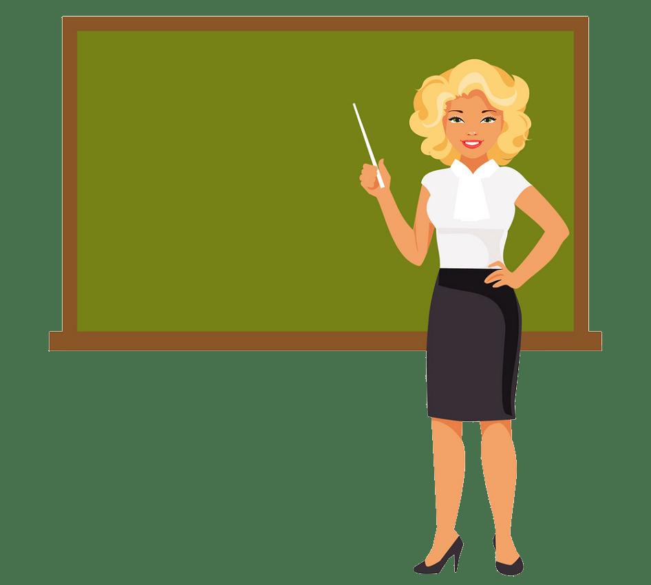 female teacher png trasparent