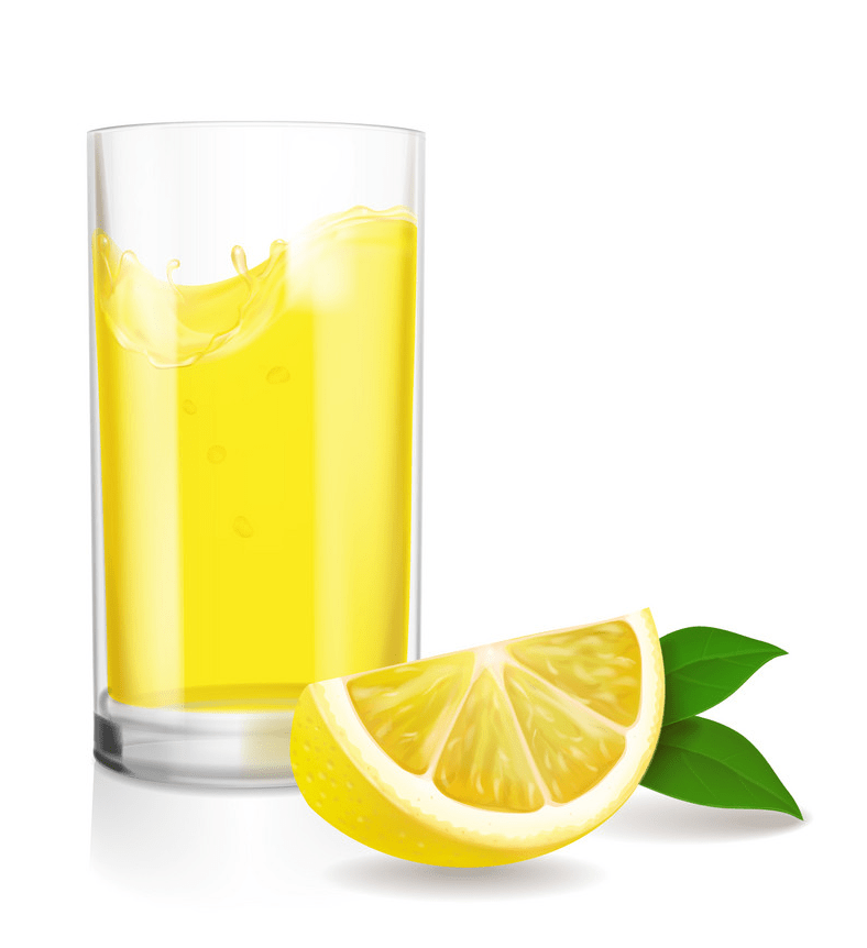 fresh lemonade in glass png