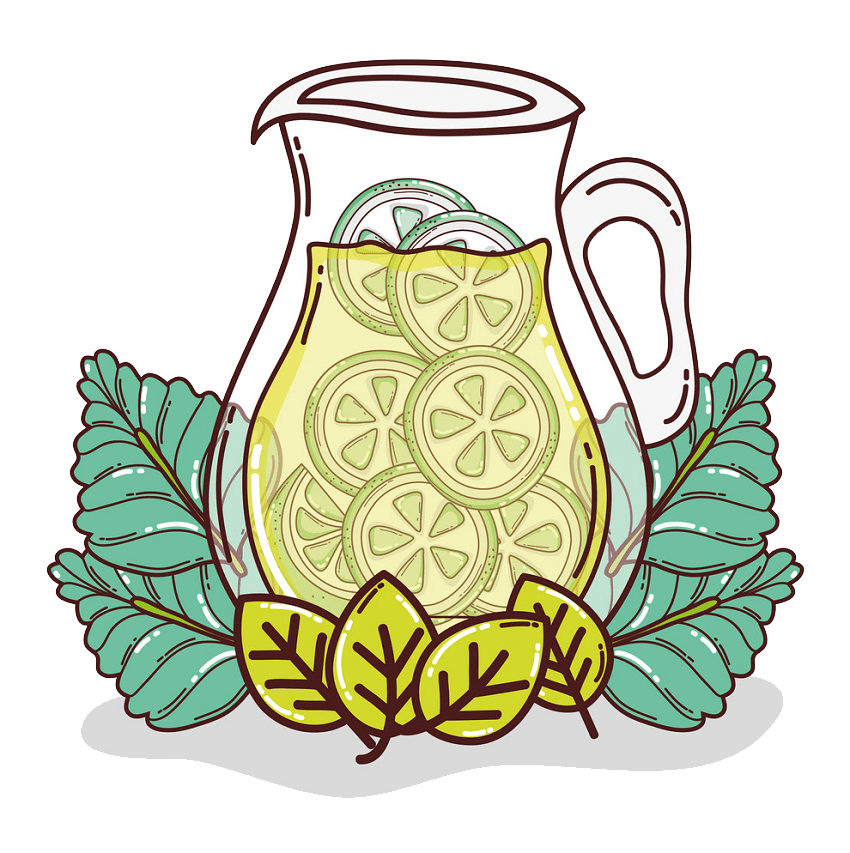 fresh lemonade jar png transparent