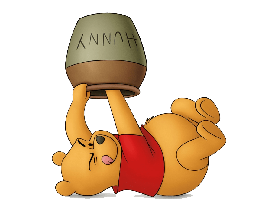 funny pooh looking for honey transparent