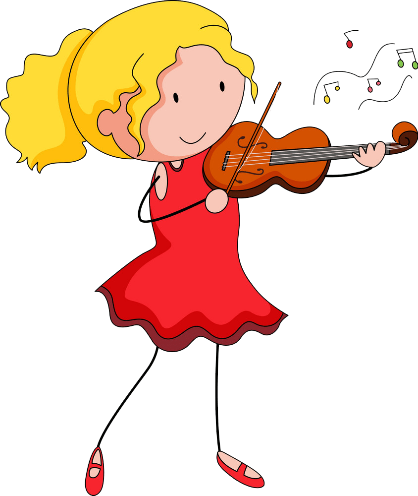 girl playing violin png transparent
