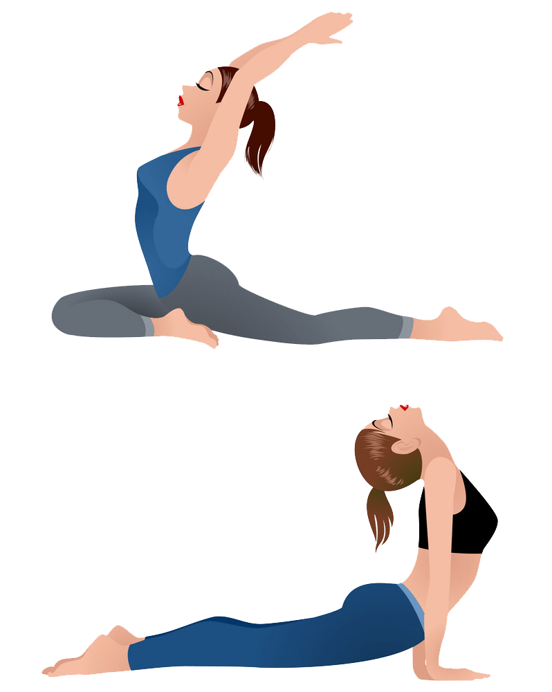 girls practicing yoga png transparent