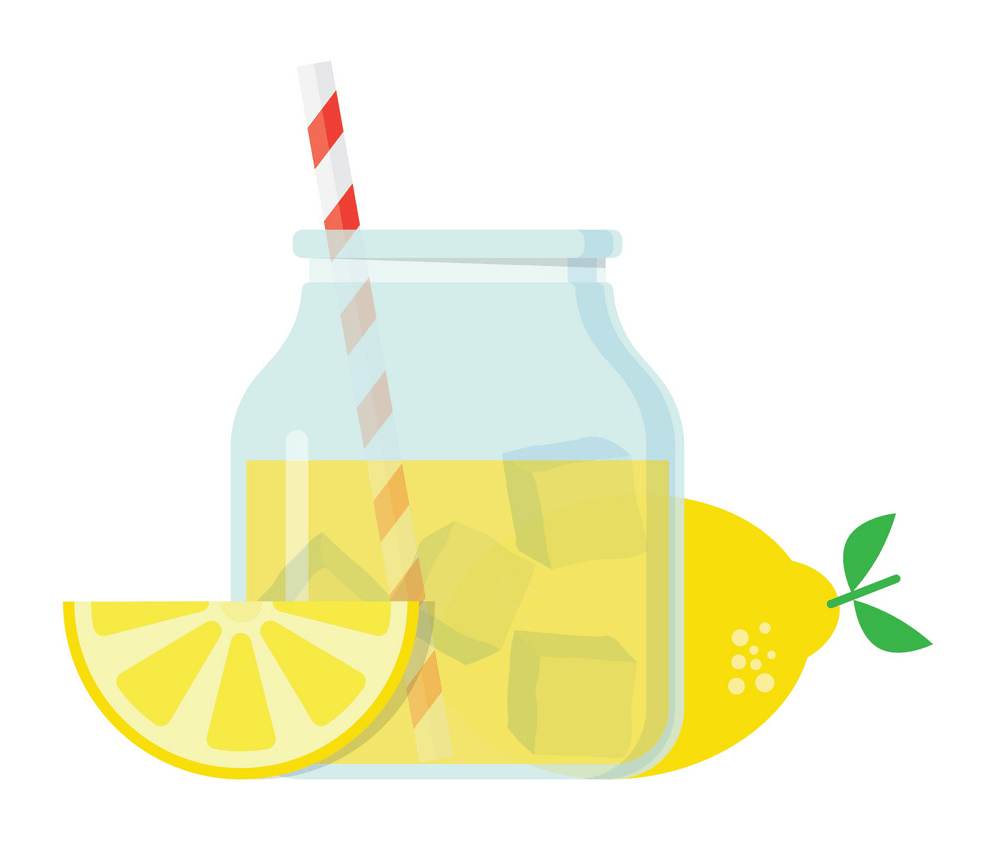 glass jar with lemonade png