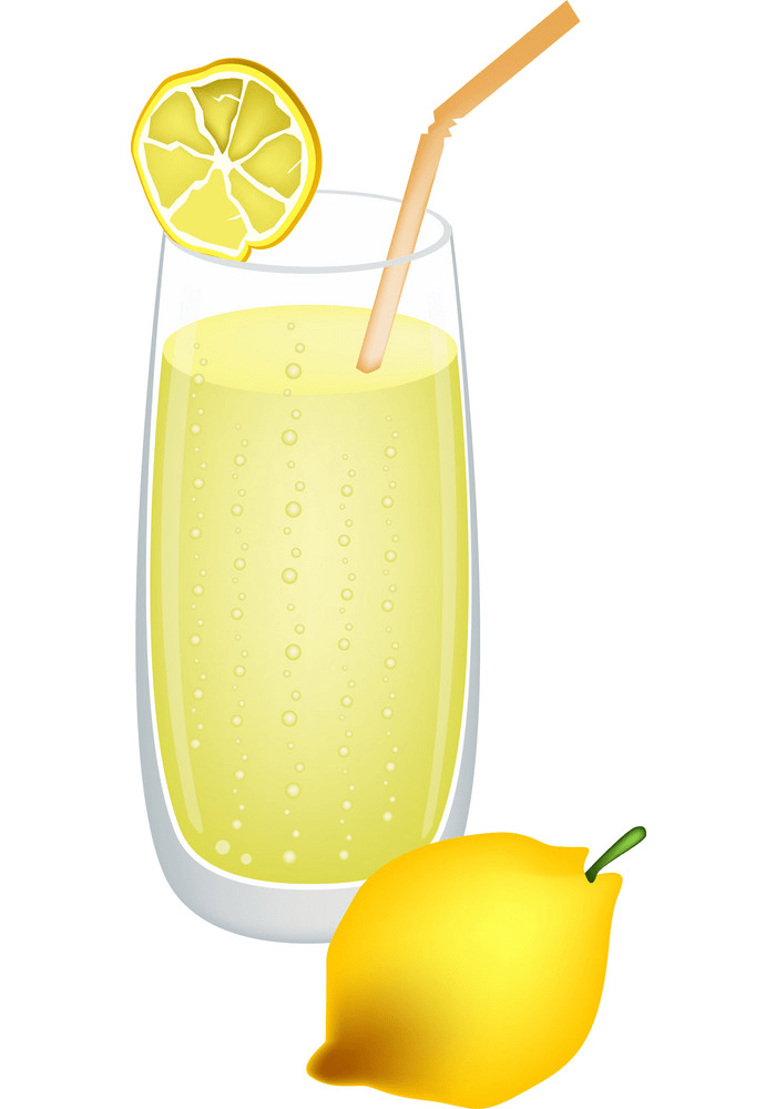 glass of fresh lemonade png