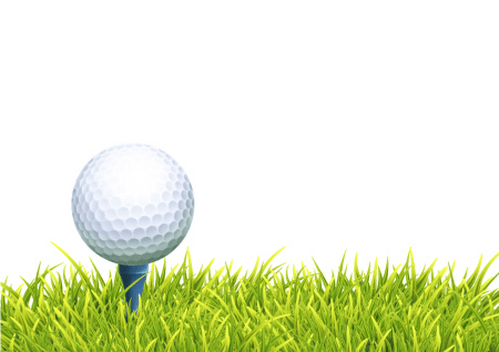 golf ball and tee on grass png